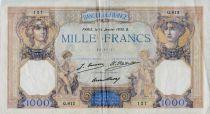 France 1000 Francs Ceres and Mercury - 14-01-1930 Serial Q.812 - VF