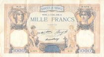 France 1000 Francs Ceres and Mercury - 14-05-1936 Serial B.2474 - F to VF