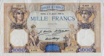 France 1000 Francs Ceres and Mercury - 15-01-1930 Serial G.815 - VF