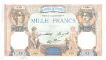 France 1000 Francs Ceres and Mercury - 15-07-1937 Serial C.2994 - VF