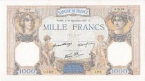 France 1000 Francs Ceres and Mercury - 16/12/1937 Serial O3129