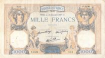 France 1000 Francs Ceres and Mercury - 16-12-1937 Serial P.3130 - F+