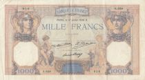 France 1000 Francs Ceres and Mercury - 17-07-1930- Serial S.938