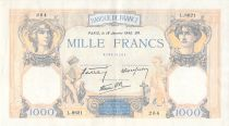 France 1000 Francs Ceres and Mercury - 18-01-1940 Serial L.8621 - VF