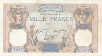 France 1000 Francs Ceres and Mercury - 18-04-1940 Serial Z.9482 - VF
