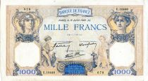 France 1000 Francs Ceres and Mercury - 18/07/1940 Serial E.10448  - VF