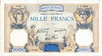 France 1000 Francs Ceres and Mercury - 18/07/1940 Serial E.10448  - VF