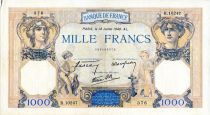 France 1000 Francs Ceres and Mercury - 18/07/1940 Serial R.10247  - VF