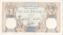 France 1000 Francs Ceres and Mercury - 20-06-1940 Serial F.9992 - VF