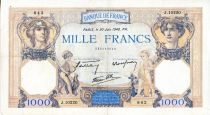 France 1000 Francs Ceres and Mercury - 20/06/1940 Serial J.10220  - VF