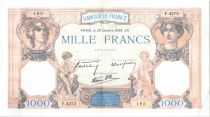 France 1000 Francs Ceres and Mercury - 20-10-1938 Serial D.4373-183