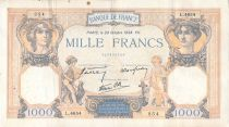 France 1000 Francs Ceres and Mercury - 20-10-1938 Serial L.4654 - F to VF
