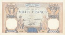 France 1000 Francs Ceres and Mercury - 21-03-1940 Serial D.9054 - XF