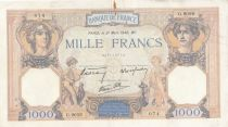 France 1000 Francs Ceres and Mercury - 21-03-1940 Serial G.9059 - VF