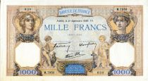 France 1000 Francs Ceres and Mercury - 21/09/1939 Serial M.7953  - VF