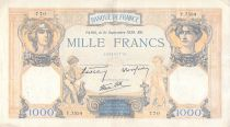 France 1000 Francs Ceres and Mercury - 21-09-1939 Serial Y.7534 - VF