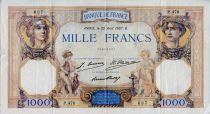 France 1000 Francs Ceres and Mercury - 22-08-1927 Serial P.476 -VF