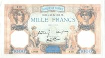 France 1000 Francs Ceres and Mercury - 23-05-1940 Serial C.9726-219
