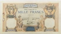 France 1000 Francs Ceres and Mercury - 23-05-1940 Serial Z.9716 - VF