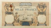 France 1000 Francs Ceres and Mercury - 26-01-1939 Serial B.5621 - VF