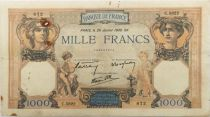 France 1000 Francs Ceres and Mercury - 26-01-1939 Serial C.5822 - VF