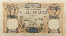 France 1000 Francs Ceres and Mercury - 26-01-1939 Serial E.5606 - F