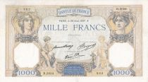 France 1000 Francs Ceres and Mercury - 26/08/1937 Serial D3034