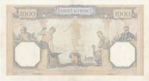 France 1000 Francs Ceres and Mercury - 26-08-1938 Serial Z.3024