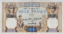 France 1000 Francs Ceres and Mercury - 26-12-1930 Serial H.1134 - VF