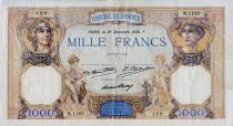 France 1000 Francs Ceres and Mercury - 26-12-1930 Serial O.1122 - VF