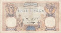 France 1000 Francs Ceres and Mercury - 28-10-1927 - Serial O.646
