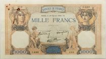 France 1000 Francs Ceres and Mercury - 29-02-1940 Serial C.9002 - VF