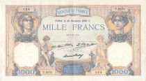 France 1000 Francs Ceres and Mercury - 29-12-1932 Serial T.2271 - VF+