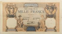 France 1000 Francs Ceres and Mercury - 30-03-1939 Serial D.6502 - F+