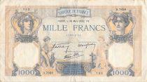 France 1000 Francs Ceres and Mercury - 30-03-1939 Serial D.7038 - F