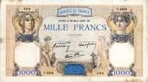 France 1000 Francs Ceres and Mercury - 30/03/1939 Serial F.6886  - VF