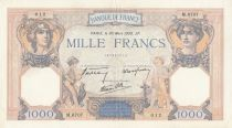 France 1000 Francs Ceres and Mercury - 30-03-1939 Serial M.6707 - VF+