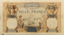 France 1000 Francs Ceres and Mercury - 30-03-1939 Serial M.7050 - F+