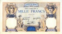 France 1000 Francs Ceres and Mercury - 30/03/1939 Serial S.6743  - VF