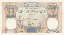 France 1000 Francs Ceres and Mercury - 30-03-1939 Serial T.6913 - P.90 - AU