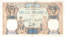 France 1000 Francs Ceres and Mercury - 30-03-1939 Serial V.6996 - VF