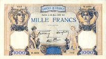France 1000 Francs Ceres and Mercury - 30/03/1939 Serial W.6808  - VF