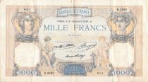 France 1000 Francs Ceres and Mercury - 31-12-1936 Serial B.2692 - F+