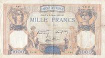 France 1000 Francs Cérès et Mercure - 02-02-1939 - Série V.6147