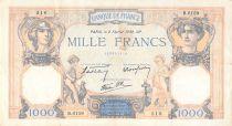 France 1000 Francs Cérès et Mercure - 02-02-1939 Série B.6159 - TB