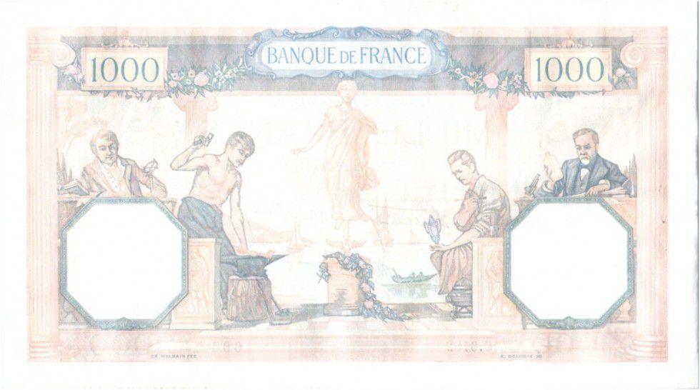 France 1000 Francs Cérès et Mercure - 02-02-1939 Série C.6182-664