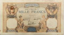 France 1000 Francs Cérès et Mercure - 02-02-1939 Série J.6446 - TTB