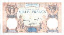 France 1000 Francs Cérès et Mercure - 02-02-1939 Série V.6196-094