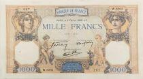 France 1000 Francs Cérès et Mercure - 02-02-1939 Série W.6263 - SUP
