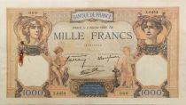 France 1000 Francs Cérès et Mercure - 02-02-1939 Série X.6454 - TTB